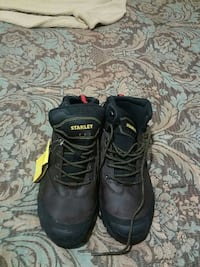 black Stanley work boots