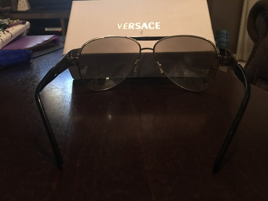 Stainless steel frame. New Versace sunglasses with box slightly Tinted - United States
