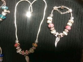 Breast Cancer Awareness Necklace and Bracelet