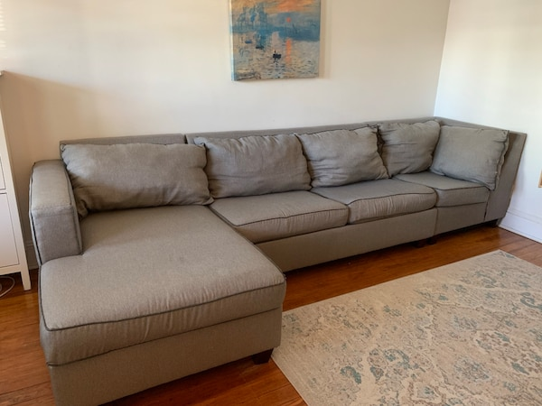 Katie Charcoal Sectional sleeper sofa bed(bobs furniture)