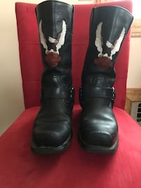 Men's Harley harness boots size 8 1/2 worn only few times great condition still not even broken in null, 10314