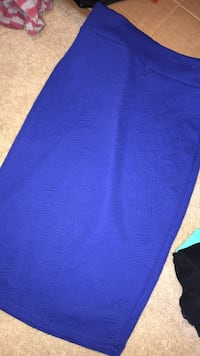 Women's blue pencil skirt size medium  Ewa Gentry, 96706