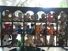 COLLECTION OF 30 TY BABIES (PLUS SHELF)