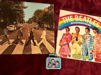 BEATLES- Abbey Road Vinyl, The Beatles- An Illustrated Record book, & a small lunchbox tin Beaverton, 97008