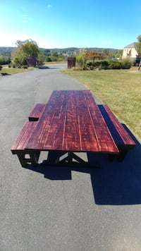 Farm table with benches Leesburg