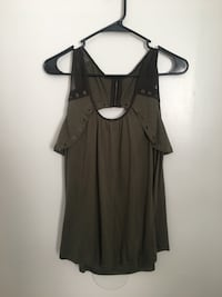 Olive Cut Out Back Tank Top Jacksonville, 28540