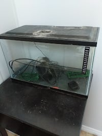 rectangular black glass pet tank Airdrie, T4B 2H9