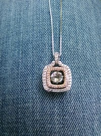 "pendulum 10k rose gold and sterling 22"" chain Jackson"