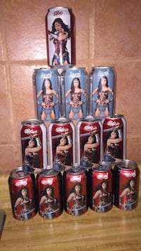Wonder woman Dr Pepper cans collection