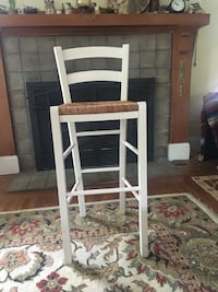 Pottery barn White and brown wooden high chair