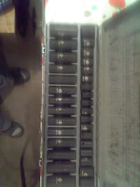 black socket wrench set with case