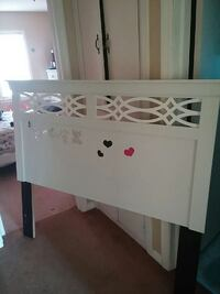 white wooden bed headboard size queen