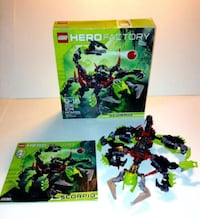 Lego Set 2236 Hero Factory Scorpiotwo Black And Green Lego Toys London