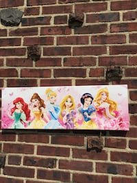 Disney princess canvas print excellent condition Bay Shore, 11706