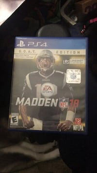 Madden NFL 18 PS4 game case Shenandoah Junction, 25442