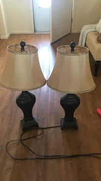 two black-and-white table lamps Sumter, 29152