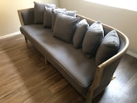Grey Sofa W/ Wood Frame Las Vegas, 89118