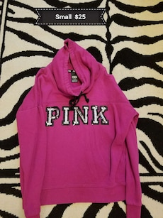 pink Pink pull over hoodie