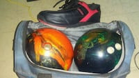 DEXTER SIZE 9 MENS BOWLING SHOES AND 2 BOWLING BAL Toronto, M1G 3S8