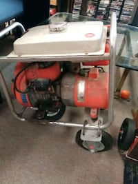 red and black air compressor Midland, 48640