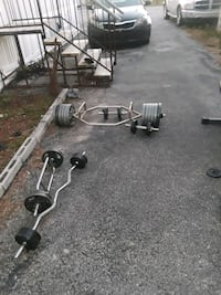 Weights set for sale about 500 lbs in weights