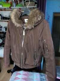 blouson aviateur en fourrure marron Chimilin, 38490