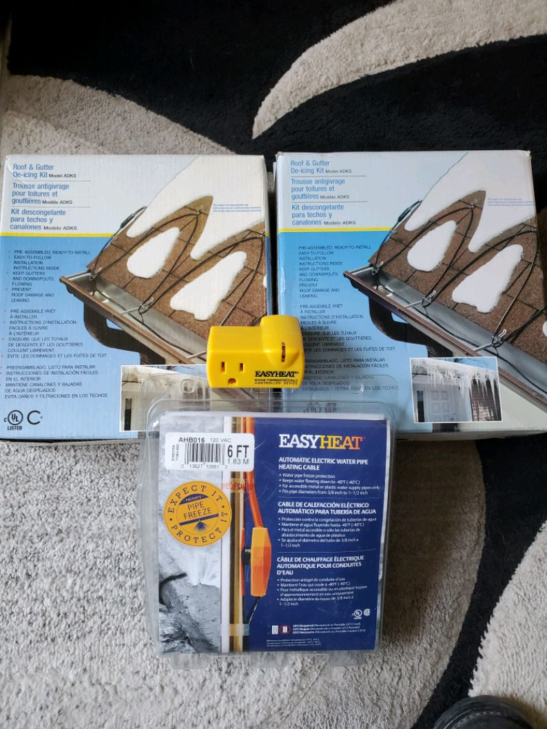 Photo Easy heat de-icing kit two of them easy heat water pipe heating cable