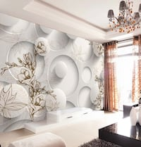 3d abstract wallpaper mural Oakville