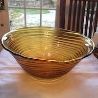 Vintage yellow spiral fruit bowl Toronto, M9A 4R7