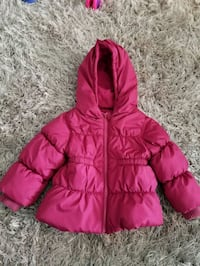 pink zip-up bubble jacket