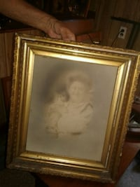 Vintage frame and picture  08037, 08037