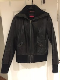 Black leather zip-up jacket Toronto, M6M 3L5