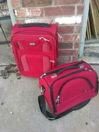 red and black luggage bag Cedar Park, 78613