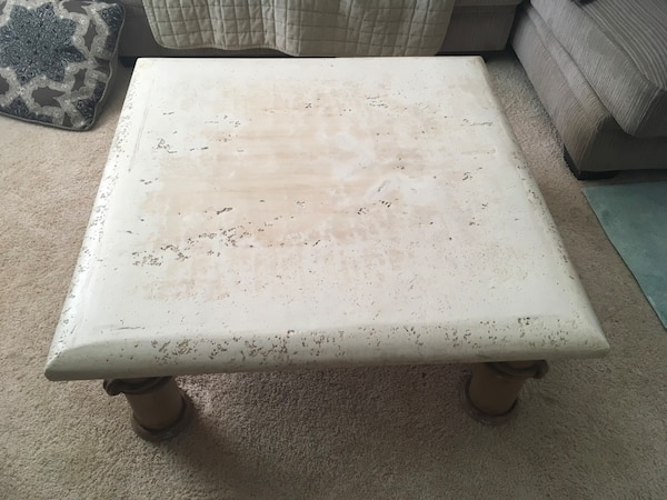 Unique Stone/Metal Finish Coffee Table 80d19807-de3f-497f-8736-d09eb88b63ea