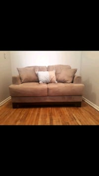 Suede Loveseat , Chair & Footstool Hamilton
