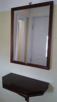 VINTAGE MIRROR WITH SHELF Whitby