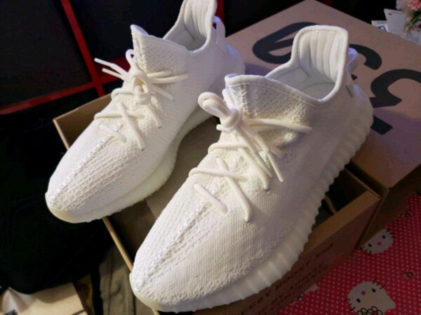 317de0233182c Used Adidas boost 350 v2 triple white size 10 for sale in Daly City ...