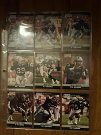 nine assorted football trading cards Santa Rosa, 95407