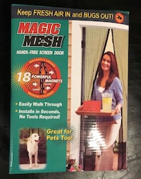 New Magic mesh hands-free screen for door. The size is on one of the photos. Selling for $5.00 each. Thank you. Bakersfield, 93307