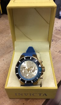 Invicta pro diver watch with turquoise rubber band case  830728-1
