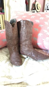 pair of brown leather cowboy boots Austin, 78748