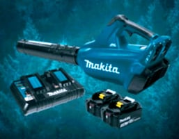 Makita cordless leaf blower with two extra batteries