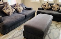PRICED REDUCED!! Modern Charcoal Grey Sofa, Chair & Ottoman! Pillows Included. Las Vegas, 89148