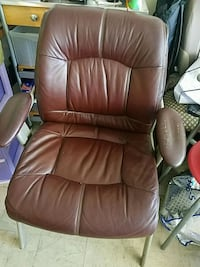 brown leather office rolling armchair 2545 km