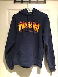 Men's Navy Blue Thrasher Hoodie Bethlehem, 18018