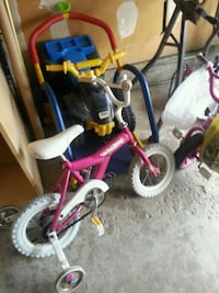 toddler's pink and white bicycle with training wheels Hamilton, L8E