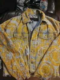 Versace coutour jean  jacket can be certified by versace sto
