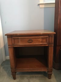 Brown wooden single drawer side table Newport News