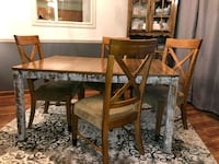 rectangular brown wooden table with six chairs dining set Parkville, 21234