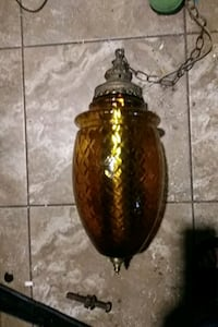 Rare ExLargeAmber glass hanging lamp 22in indngth Albuquerque, 87112